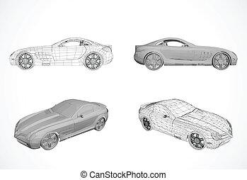 Set von Autodesign in Vektor Illustration