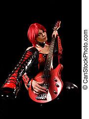 Sexy Gitarrenspieler
