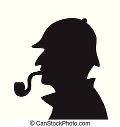 Sherlock Holmes Silhouette.
