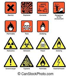 Sicherheitszeichen des Wissenschaftslabors
