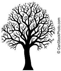 Silhouette von Baum ohne Blatt 2