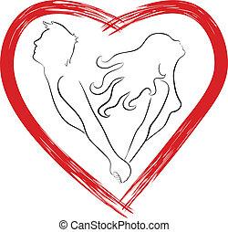 Silhouette von geformtem Herzen