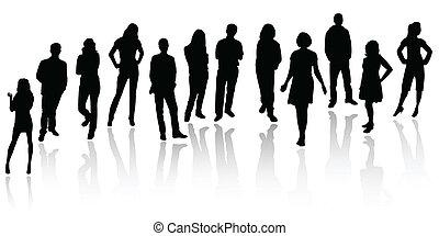 Silhouette von Geschäftsleuten