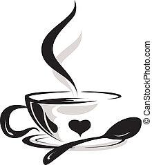 Silhouette von Kaffeeliebhaber