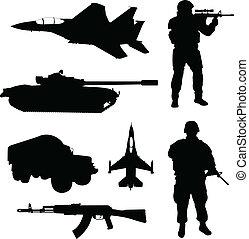 silhouetten, armee