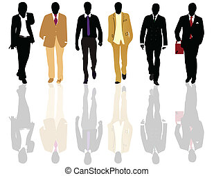 silhouetten, mode, maenner