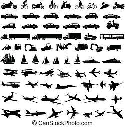 silhouetten, transport