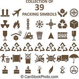 simbols, verpackung, sammlung