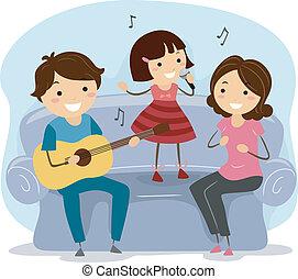 Singende Familie