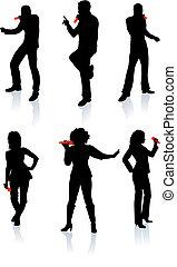 Singers Silhouette-Sammlung