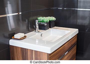 sinken, badezimmer