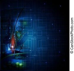 Skin Anatomie abstrakte Technologie Hintergrund.