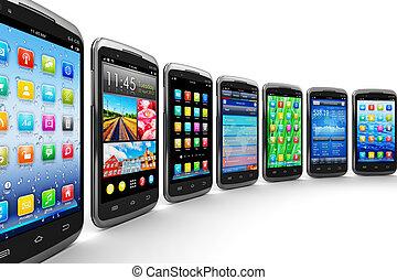 Smartphones und mobile Anwendungen.