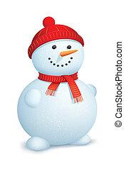 Snowman mit Schal