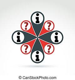 Social Information Sammeln und Austausch Themen Icon, Vektor-Konzept ungewöhnliches Symbol für Ihr Design.