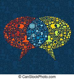 Social-Media-Sprache-Interaktion