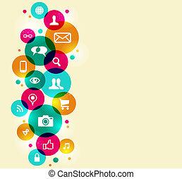 Social Media Symbole gesetzt