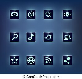 Social Media Symbole gesetzt.