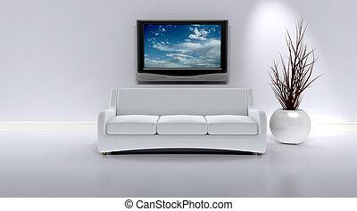 Sofa in einem zeitgenössischen Inneren
