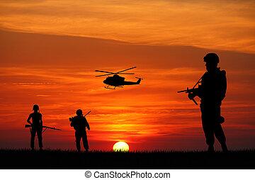 Soldaten im Krieg