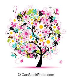 Sommer-Foralbaum für dein Design