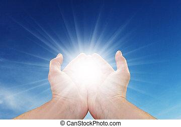 Sonne in deinen Händen