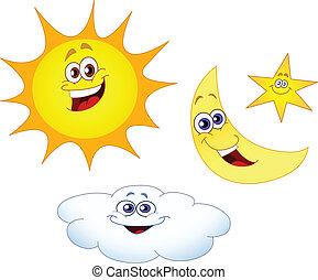 Sonnenmondstern und Wolke