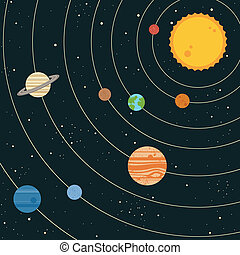 Sonnensystem Illustration