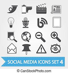 sozial, medien, satz, 4, heiligenbilder