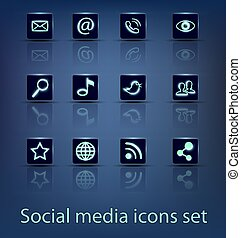 sozial, medien, satz, heiligenbilder