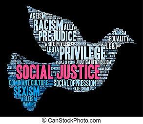 Soziale Gerechtigkeit Wort Wolke.