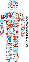 Soziale Medien-Ikonen, Mann