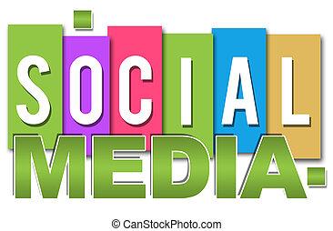 Soziale Medien professionell bunt