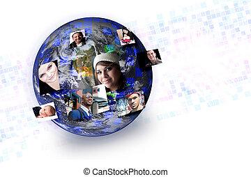 Soziale Medien stellen globale Netzwerkverbindungen dar
