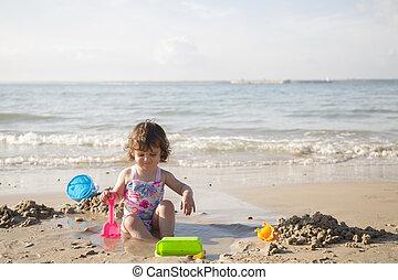 Spaß im Sand.