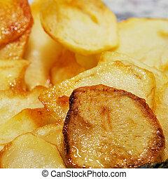 spanischer , pommes, fritas, franzoesisch, patatas