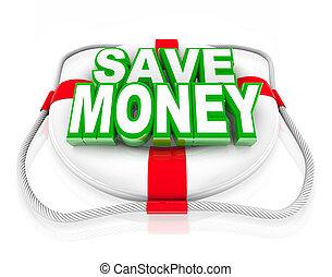 Sparen Sie sich das Geld für den Sparhaushalt