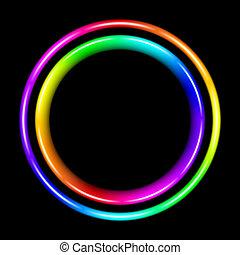 spectral, mehrfarbig, kreis