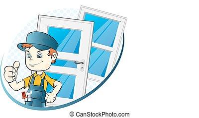 Spezialist für die Installation von Fenstern und Türen.