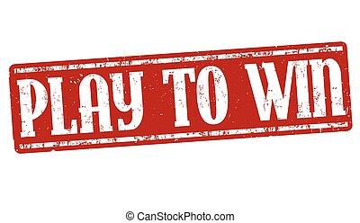 Spiel, um Zeichen oder Stempel zu gewinnen.