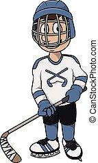 spieler, design, hockey, karikatur