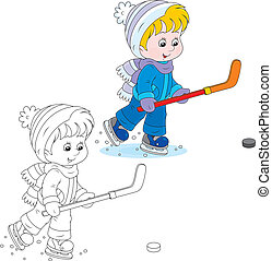 spieler, wenig, hockey