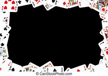 Spielrahmen aus Pokerkarten.