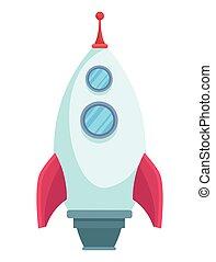 spielzeug, raketenwerfer, rakete
