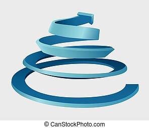spirale, drei dimensionale