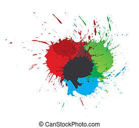 spritzer, farbe, farbe