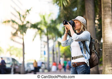 stadt, nehmen, tourist, fotos