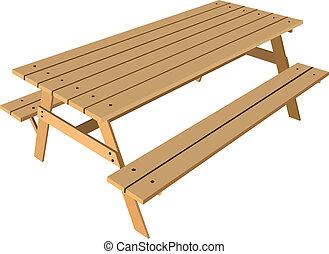 Standardtisch mit Bänken