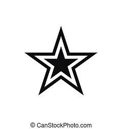 Star Ikone, schlichter Stil.