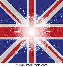 Starry Union Jack Flag Background
